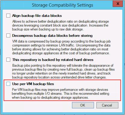 Per VM Backup Files · Veeam Best Practices Guide V9